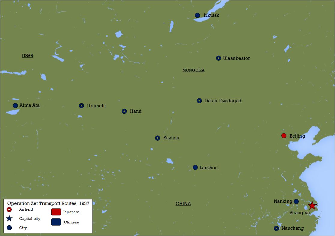 Operation Zet Map