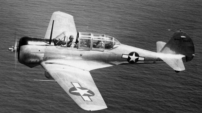 SNC 1 in flight off Puerto Rico 1943 678x381